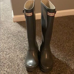 Hunter Boots - grey - 6M/7F